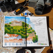 My project in Watercolor Travel Journal course. A Illustration und Aquarellmalerei project by Teresa Figueiredo - 16.03.2021