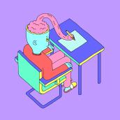 No soy yo es mi cerebro. A Illustration, and Editorial Illustration project by María Grande Estévez - 03.15.2021