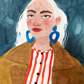 NINA. A Illustration, Fashion Design, Watercolor Painting, and Portrait Drawing project by Valentina Armstrong - 03.16.2021