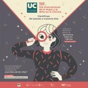 Día Internacional de la mujer y la niña en la ciencia. Un proyecto de Ilustración, Diseño gráfico, Ilustración vectorial, Diseño de carteles e Ilustración digital de Jenni Conde - 17.03.2021