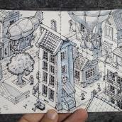 Meu projeto do curso: A arte de desenhar: transforme seus rabiscos em arte. Um projeto de Ilustração editorial de Aurélio Rauber - 18.03.2021