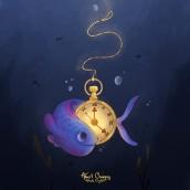 🐟 🕰 🌊. Un progetto di Illustrazione di Albert Chargoy - 11.11.2020
