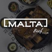 Malta Beef Club. Um projeto de Direção de arte, Br, ing e Identidade, Design de produtos e Design de logotipo de Carolina Lopez - 18.01.2021