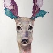 Mi Proyecto del curso: Ilustración surrealista inspirada en la naturaleza. A Illustration, Pencil drawing, Drawing, Artistic drawing, and Naturalist Illustration project by Florence Saje - 03.19.2021