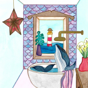 Mi Proyecto del curso: Técnicas de acuarela para ilustraciones de ensueño. A Illustration project by Andreah Sucre Bello - 03.19.2021