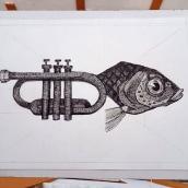 Meu projeto do curso: Ilustração surrealista com caneta fineliner. Un progetto di Illustrazione , e Disegno artistico di Pedro Mendes - 22.03.2021