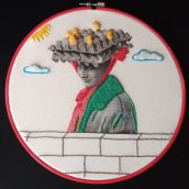 My project in Photo Embroidery on Fabric course. Un projet de Artisanat de Marie ROUSSEL - 23.03.2021