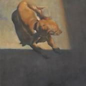 Skye getting warmed up in the sun . Un progetto di Pittura ad olio di Remi Cárdenas - 23.03.2021