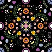 Mandalas flores. Un progetto di Illustrazione vettoriale di Clara Megías - 24.03.2021