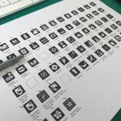 Pictogramas con Pertenecía Indígena - Pueblos Mapuche - Aimara - Rapanui . Un projet de Conception de pictogramme de Hendrik Muskus - 25.03.2021
