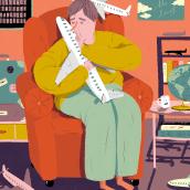 Editorial illustrations: Dagens Nyheter. Un progetto di Illustrazione, Progettazione editoriale, Illustrazione digitale e Illustrazione editoriale di Emma Hanquist - 28.03.2021