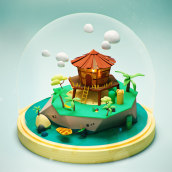 Meu projeto do curso: Criação de mundos 3D em miniatura com Procreate e Cinema 4D. Un proyecto de 3D de Dan Cristian - 29.03.2021