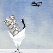 My project in Illustration Using Mixed Techniques: Wings. Un proyecto de Ilustración de maria.lusser - 31.03.2021