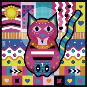 Gato. Un progetto di Illustrazione vettoriale di Clara Megías - 30.03.2021