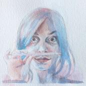 Il mio progetto del corso: Ritratto artistico ad acquerello. Un progetto di Disegno di ritratto di Arcangelo Ambrosi - 30.03.2021