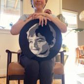 Mi Proyecto del curso:  Bordado con punch needle: pasa de la imagen al retrato. Un progetto di Ricamo di Sara Luna - 02.04.2021