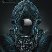 Alien illustration on Procreate. Um projeto de Ilustração e Desenho digital de Martin Mariano Hernandez Tena - 02.04.2021