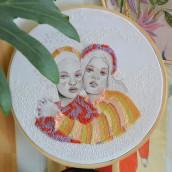 Abrazos texturados. Un projet de Illustration, Artisanat, Illustration de portrait, Estampillage, Broderie , et Dessin de portrait de Yamila Yjilioff - 02.04.2021