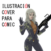 Ilustración Cover para Cómic. A Illustration, Character Design, Fine Art, Comic, Sketching, Drawing, Digital illustration, Stor, telling, Concept Art, Artistic drawing, Digital Drawing, Digital Painting, and Figure drawing  project by Rubén de Frutos - 04.05.2021