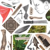 Palabras en mi maleta. Un progetto di Illustrazione, Collage, Disegno e Illustrazione infantile di Samuel Castaño - 05.04.2021