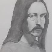 Retrato con lápiz de grafito (Diego Catalán). Un proyecto de Dibujo artístico de Beatriz Vazquez Cid - 06.04.2021