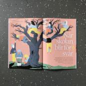 Editorial illustrations: Skolporten. Un progetto di Illustrazione, Illustrazione digitale e Illustrazione editoriale di Emma Hanquist - 01.04.2021