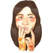 Retrato ilustrado en acuarela: Girasoles. Un projet de Illustration et Illustration de portrait de Inma Velasco Aguayo - 06.04.2021