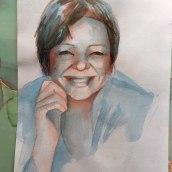 My project in Artistic Portrait with Watercolors course. Un projet de Aquarelle de Luisa Di Sarno - 07.04.2021