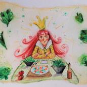 The Runaway Princess 👑! My project in Introduction to Children's Illustration course. Un progetto di Disegno, Gestione di un portfolio e Illustrazione infantile di Dina Selisiou - 07.04.2021
