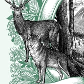 Arte Magazine - Rewilding. A Editorial Illustration project by Philip Harris - 03.31.2019