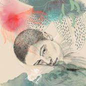 Mi Proyecto del curso: Retrato ilustrado con Procreate. Um projeto de Ilustração digital de Ainhoa Aramburu Urruzola - 07.04.2021