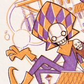 Mi Proyecto del curso: Introducción al grabado ilustrado con Procreate (Arlequines del tiempo). Un proyecto de Ilustración, Diseño de personajes e Ilustración digital de Jorch De Castro - 08.04.2021