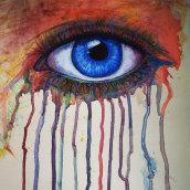 Eyes . Un projet de Peinture acr , et lique de Jazz - 12.04.2021
