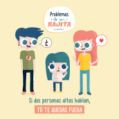 Problemas de ser bajita. Un proyecto de Redes Sociales, Creatividad, Instagram, Marketing de contenidos, Comunicación, Diseño para Redes Sociales y Marketing para Instagram de Ainara García Miguel - 12.04.2021