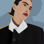 Retrato digital con técnicas pictóricas. Un projet de Beaux Arts, Illustration numérique, Illustration de portrait , et Dessin de portrait de Paola Vives Forner - 12.04.2021
