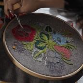 Hechizo de primavera. Un progetto di Belle arti, Ricamo e Illustrazione tessile di Gimena Romero - 13.04.2019
