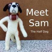 Meet Sam, The Half Dog. Un proyecto de Diseño de personajes, Artesanía, Diseño de juguetes y Art to de Edson Mito - 13.04.2021