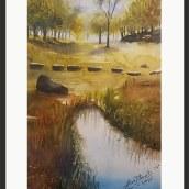 Mi Proyecto del curso:  Paisajes naturales en acuarela. Um projeto de Pintura em aquarela de Alicia Nancy Bittencourt - 14.04.2021