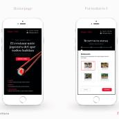 Happy Maki: Diseño de interfaces para sitios web y aplicaciones. Un projet de Design graphique, Design d'interaction, Web Design , et Conception d'applications de Paola Vives Forner - 14.04.2021