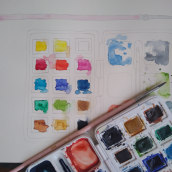 Meu projeto do curso: Técnicas modernas de aquarela (em andamento). Un progetto di Pittura ad acquerello di Ariana Hachimoto - 14.04.2021