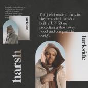Harsh - Branding & Web. Un proyecto de UI / UX, Br, ing e Identidad, Diseño gráfico y Diseño Web de Alex Ferran Perez Vallès - 15.04.2021