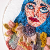 Ilustración textil. A Illustration, Zeichnung, Stickerei, Textile Illustration, Farbenlehre und Textilfärbung project by Chel Salinas - 17.04.2021