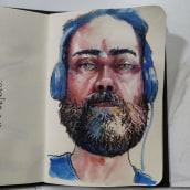 Meu projeto do curso: Caderno de retratos em aquarela. Um projeto de Ilustração de Aurélio Rauber - 18.04.2021
