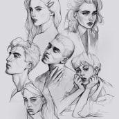 Digital portrait sketches. Um projeto de Desenho digital e Desenho de Retrato de Gabriela Niko - 19.04.2021