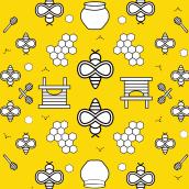 My project in Textile Pattern Design for Home Interiors  course. Un progetto di Design Pattern di Maryam Atta - 19.04.2021