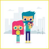 Caminos escolares . Un proyecto de Ilustración y Diseño de personajes de Ainara García Miguel - 20.04.2021