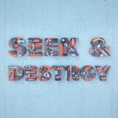 Seek & Destroy. Um projeto de Ilustração, 3D, Lettering, Modelagem 3D, 3D Design e Lettering 3D de Camilo Belmonte - 21.04.2021