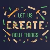 Let Us Create New Thongs - 3D Lettering . Um projeto de Ilustração, 3D, Lettering, Modelagem 3D, 3D Design e Lettering 3D de Camilo Belmonte - 21.04.2021