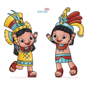 Xelo y Xen. Diseño de Personajes.. A Illustration, Character Design, Education, and Children's Illustration project by Alietta Carbajal - 05.02.2020