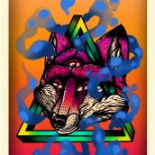 Raposa sapiente, ilustração digital.. A Illustration, Street Art, Digital illustration, and Digital Drawing project by Diogo Gomes da Silva - 04.22.2021